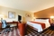 Radisson Hotel Seattle Airport - The standard room includes a 37 inch flat-screen TV, pillowtop mattress and bathroom with marble floor and granite counter top.