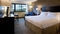 Hilton Nashville Airport - The standard, spacious king room includes free WIFI, mini refrigerator and coffee maker.